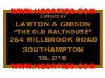 Lawton and Gibson Motorcycles Southampton Dealer Decals Transfers DDQ32